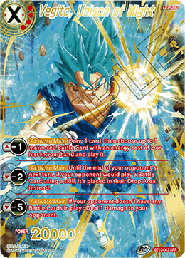 Vegito, Unison of Might
