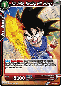 Son Goku, Bursting with Energy