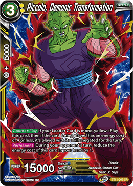 Piccolo, Demonic Transformation
