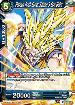 Furious Rush Super Saiyan 3 Son Goku