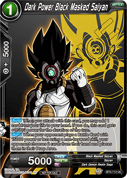 Dark Power Black Masked Saiyan