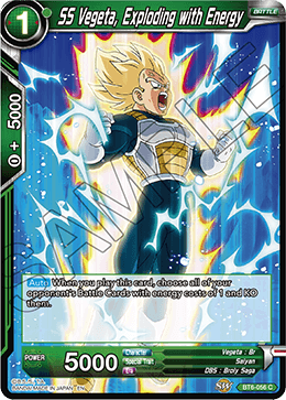 SS Vegeta, Exploding with Energy