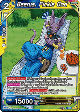 Beerus, Fickle God