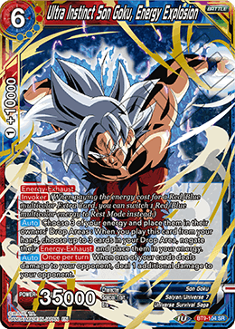Ultra Instinct Son Goku, Energy Explosion