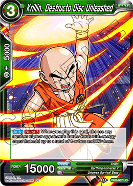 Krillin, Destructo Disc Unleashed