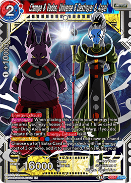 Champa & Vados, Universe 6 Destroyer & Angel