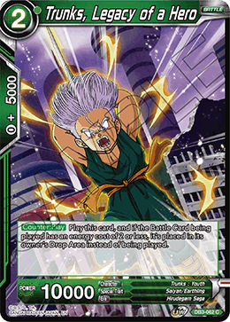 Trunks, Legacy of a Hero
