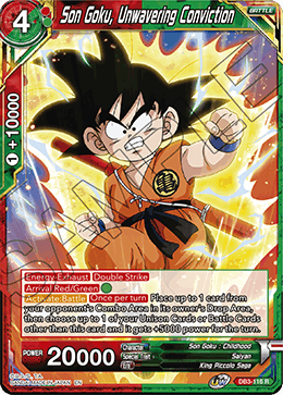Son Goku, Unwavering Conviction