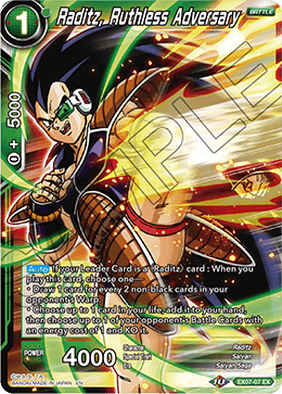 Raditz, Ruthless Adversary