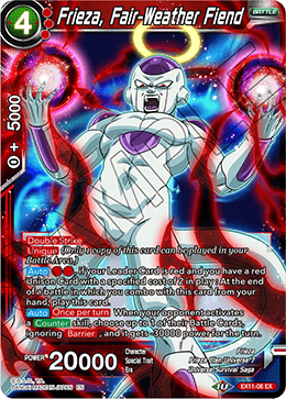 Frieza, Fair-Weather Fiend