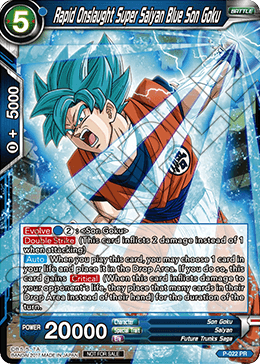 Rapid Onslaught Super Saiyan Blue Son Goku