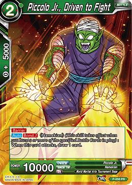 Piccolo Jr., Driven to Fight