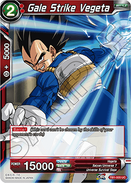 Gale Strike Vegeta