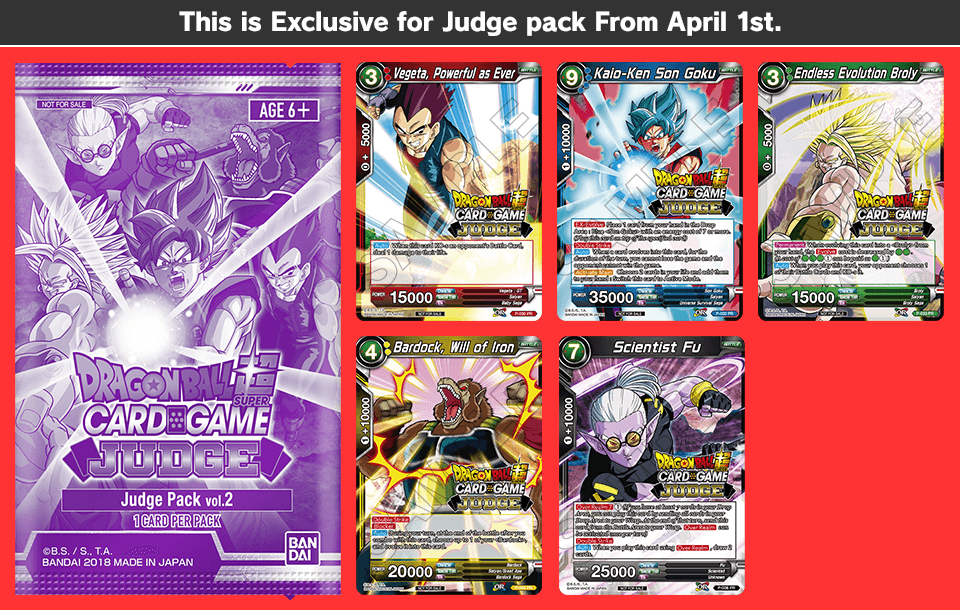 This is Exclusive for Judge pack From April 1st..